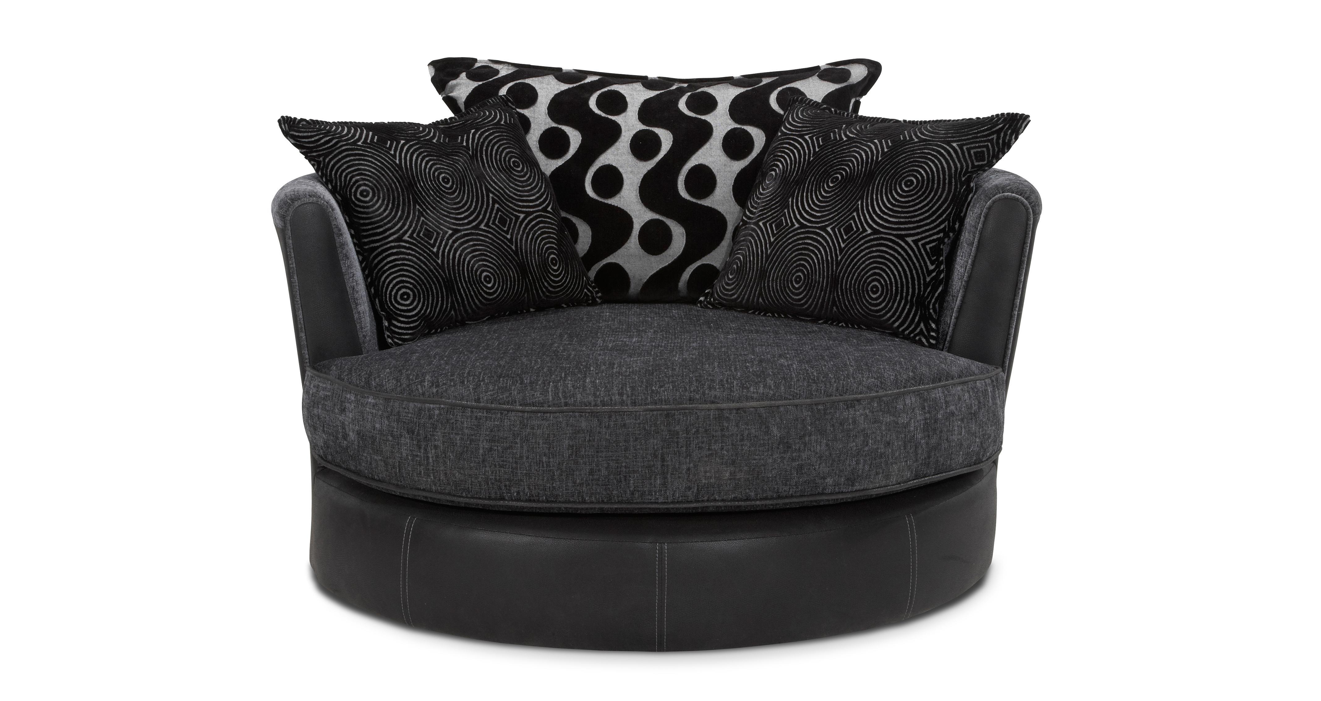 Shannon Cuddler Swivel Chair Talia Dfs