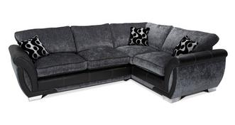 Shannon Left Hand Facing 3 Seater Formal Back  Corner Sofa Bed