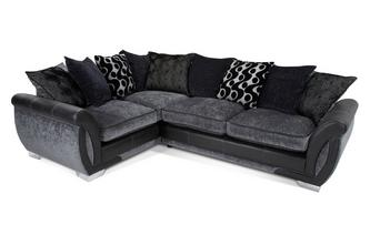 Right Hand Facing 3 Seater Pillow Back Corner Sofa Talia
