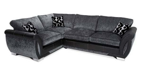 Shannon Right Hand Facing 3 Seater Formal Back Corner Sofa Bed