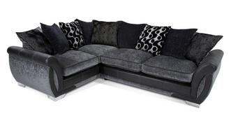 Shannon Right Hand Facing 3 Seater Pillow Back Corner Sofa Bed