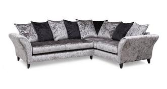 Shine Left Hand Facing 2 Seater Pillow Back Corner Sofa