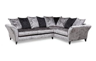 Left Hand Facing 2 Seater Pillow Back Corner Sofa Krystal