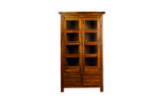 Glass Display Cabinet Shiraz Acacia