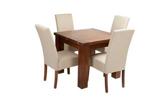 Flip Top Table & Set of 4 Tunis Dark Leg Chairs