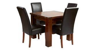 Shiraz Flip Top Table & Set of 4 Ariana Dark Leg Chairs