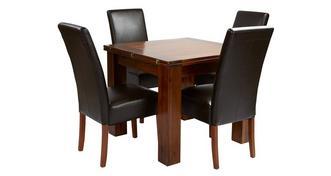 Shiraz Opklap tafel & set van 4 Ariana Dark Leg stoelen