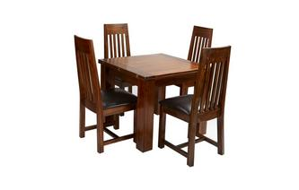 Flip Top Table & Set of 4 Slat Back Chairs