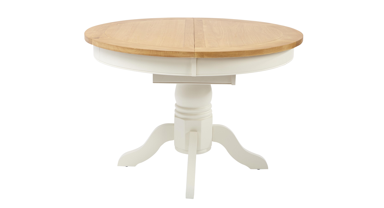 Shore ronde uitschuifbare tafel dfs banken