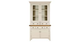 Shore Small Sideboard & Glazed Hutch with 2 Doors and 2 Drawers