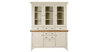 Shore Large Sideboard & Glazed Hutch with 3 Doors and 4 Drawers