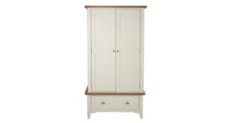 Shore Bedroom 2 Door Wardrobe with Drawer