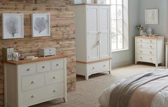 Shore Bedroom 2 Door Wardrobe with Drawer Shore