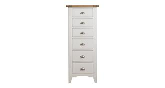 Shore Bedroom 6 Drawer Tall Chest
