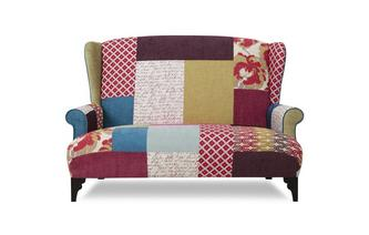 Midi High Back Sofa Shout Patchwork