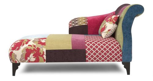 Shout Left Hand Facing Patchwork Chaise Longue