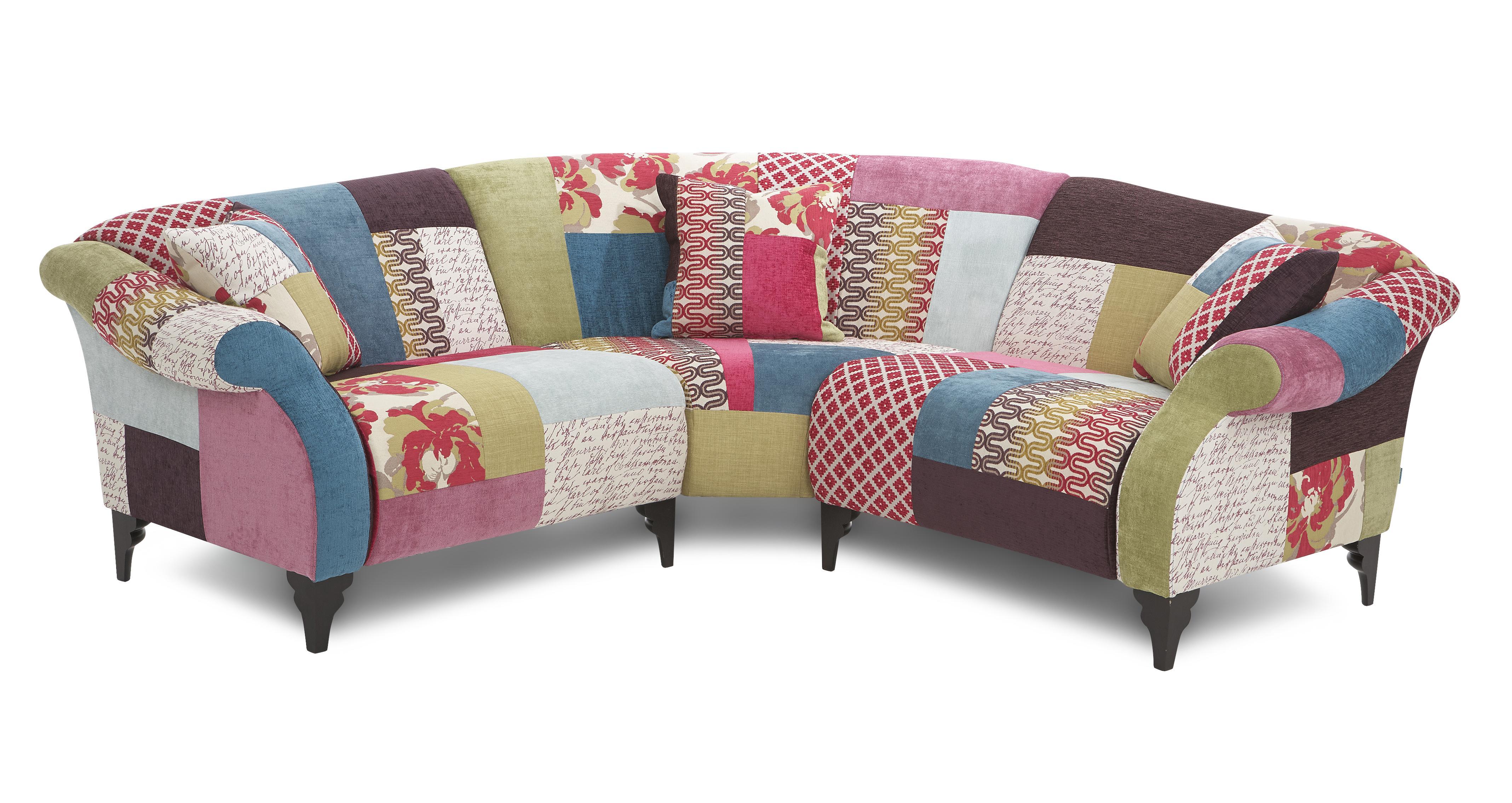 Patchwork Corner Sofa Bed
