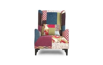 High Wing Back Chair Shout Patchwork