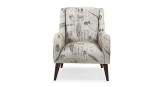 Signature Gedessineerd Accent fauteuil