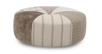 Signature Round Pattern Footstool
