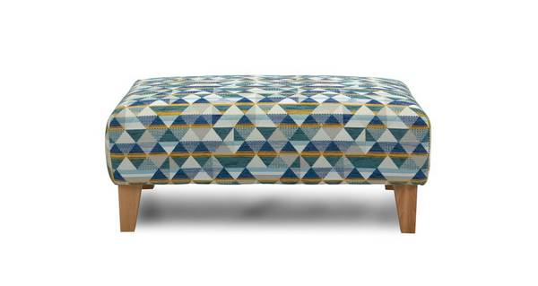 Sinatra Pattern Banquette Footstool