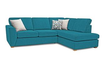 Sinatra Left Hand Facing Arm Open End Corner Sofa Sherbet