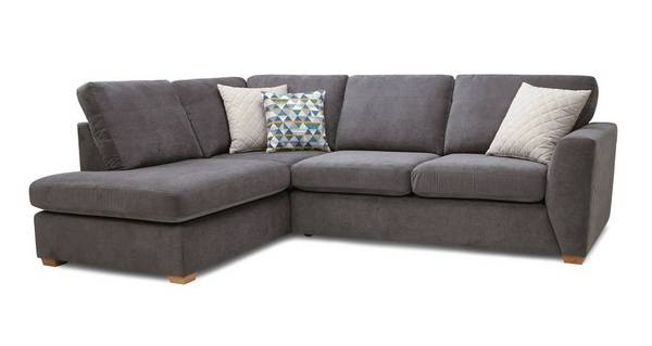 Sinatra Right Hand Facing Arm Open End Deluxe Corner Sofa Bed
