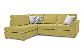 Sinatra Right Hand Facing Arm Open End Deluxe Corner Sofa Bed Sherbet