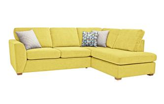 Sinatra Left Hand Facing Arm Open End Deluxe Corner Sofa Bed Sherbet