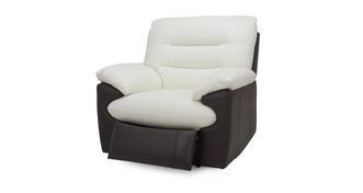 Skyline Leder en lederlook Handbediende recliner stoel