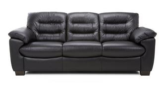 Skyline Leather and Leather Look 3 Seater Sofa
