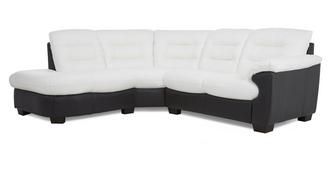 Skyline Leather and Leather Look Right Arm Facing 2 Piece Corner Sofa