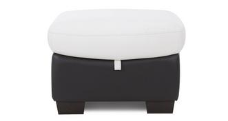 Skyline Leather and Leather Look Storage Footstool