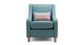 Soda Accent Chair with Pattern Bolster