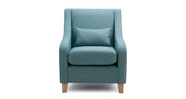 Soda Accent Chair with Plain Bolster