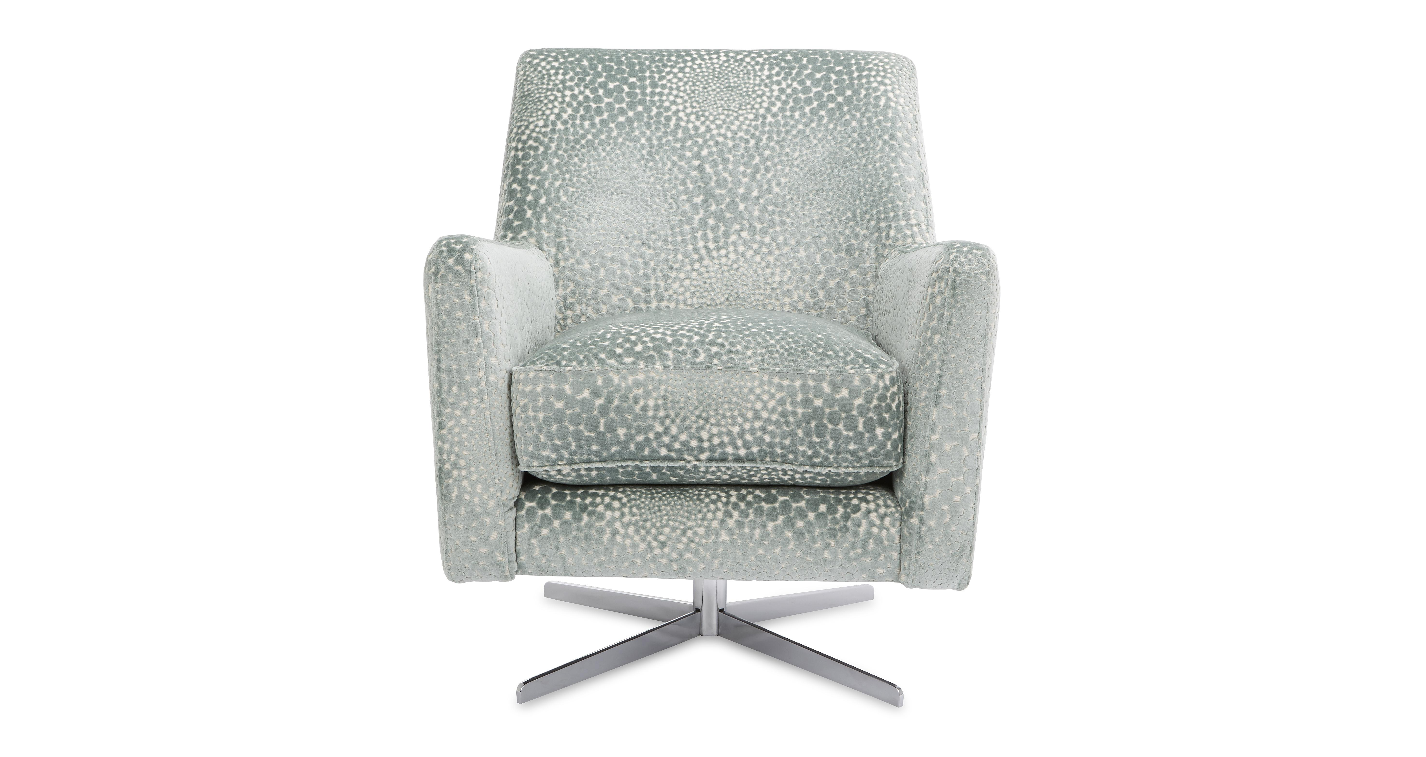 Sophia Patterned Accent Swivel Chair Dfs