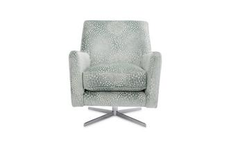 Patterned Accent Swivel Chair Sophia
