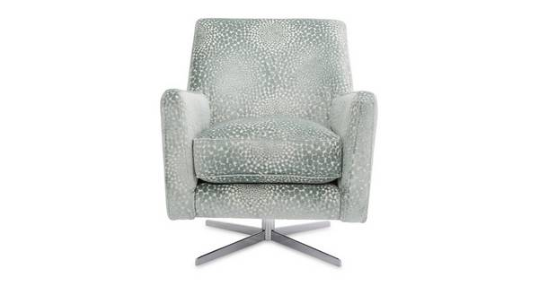 Sophia Patterned Accent Swivel Chair