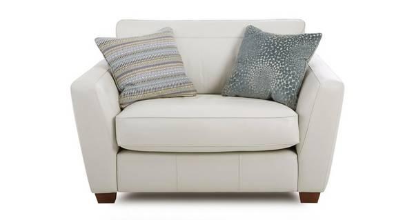 Sophia Leather Cuddler Sofa