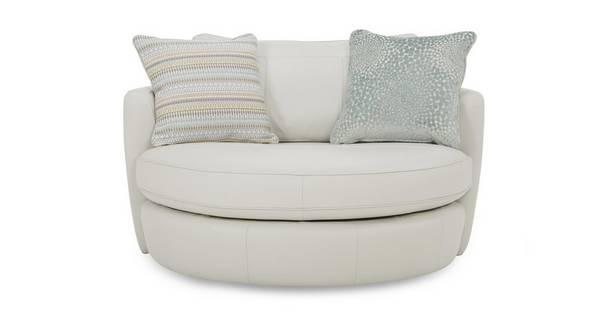 Sophia Leather Cuddler Swivel Chair