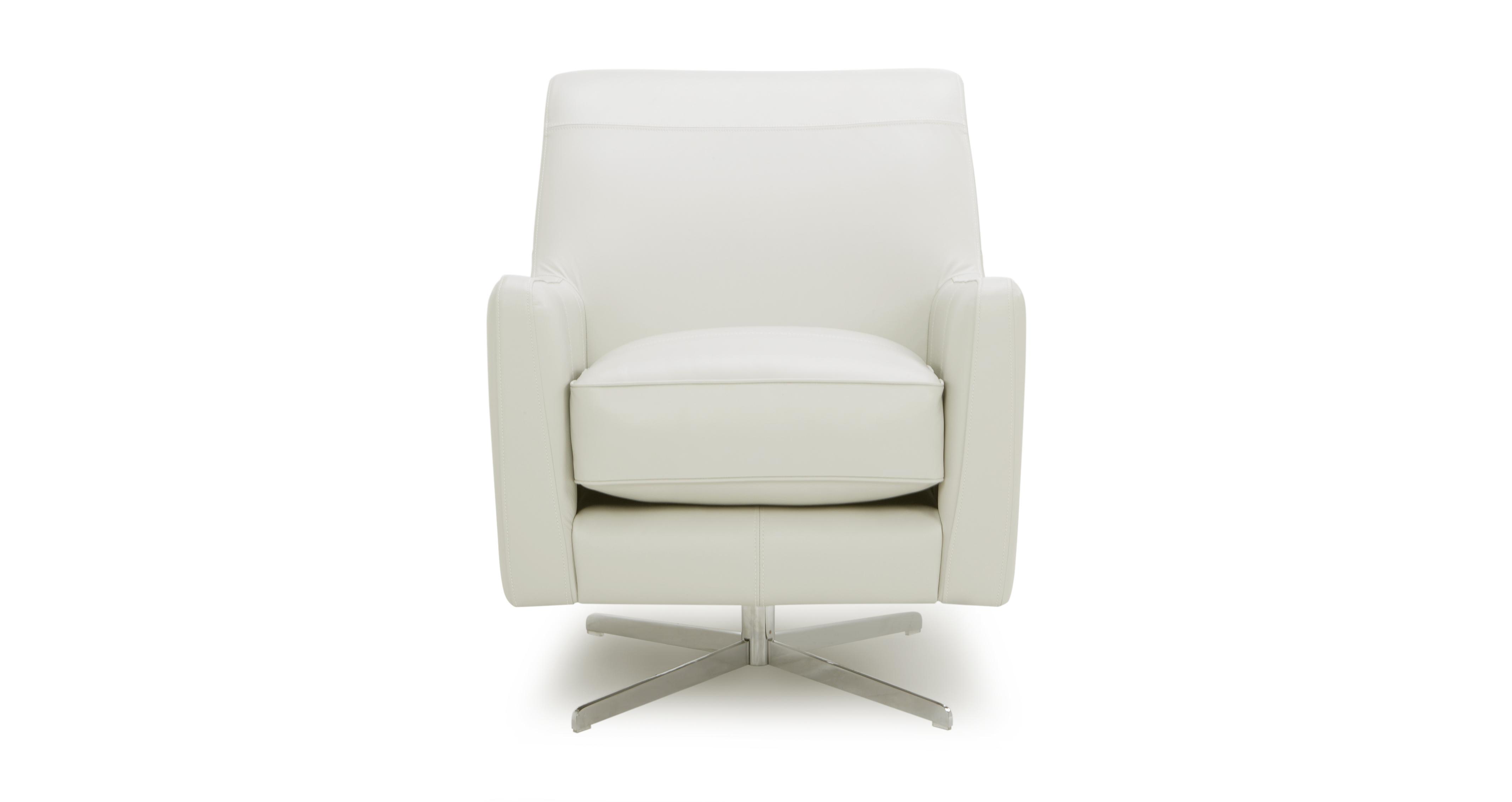 sophia leather plain accent swivel chair dfs