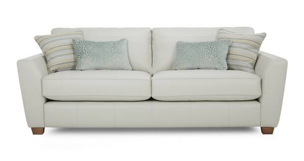 Sophia Leather 3 Seater Sofa