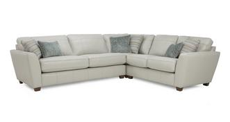 Sophia Leather Left Hand Facing 3 Seater Corner Group
