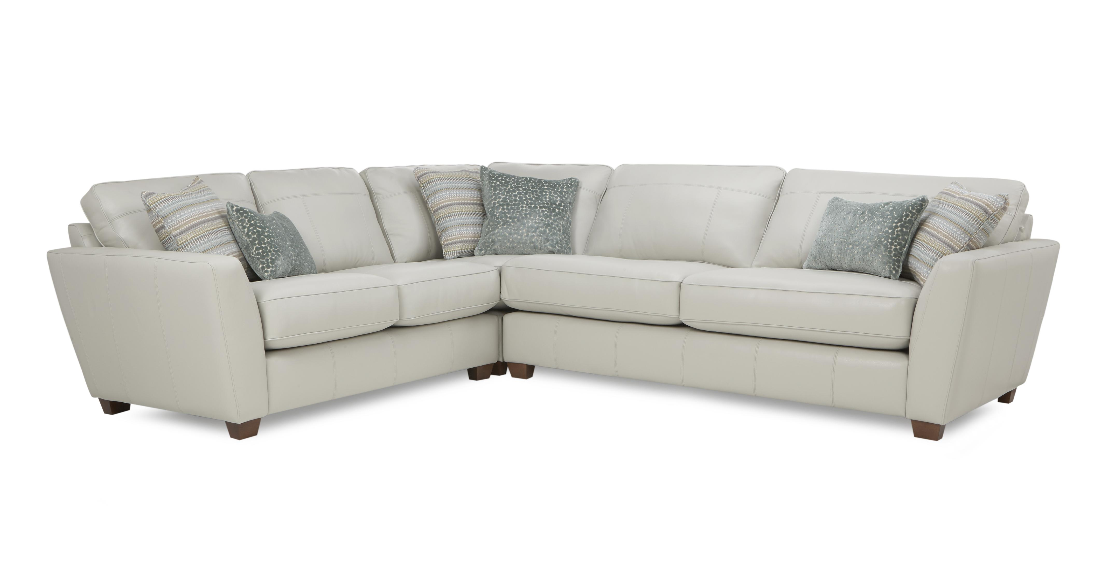 new product dc0a5 06efb Sophia Leather: Right Hand Facing 3 Seater Corner Group