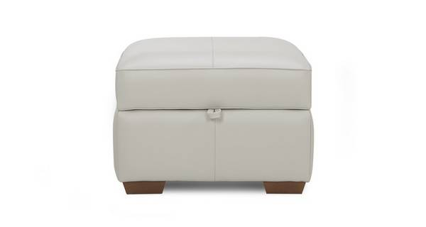 Sophia Leather Storage Footstool