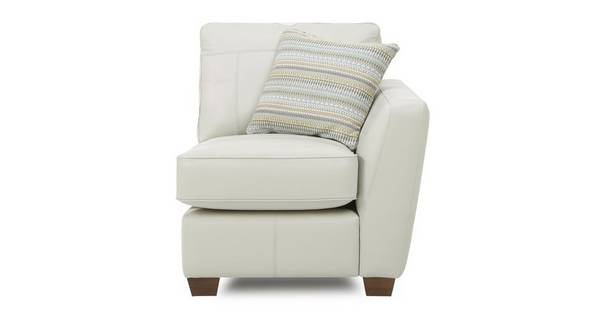 Sophia Leather Right Arm Facing 1 Seater Unit
