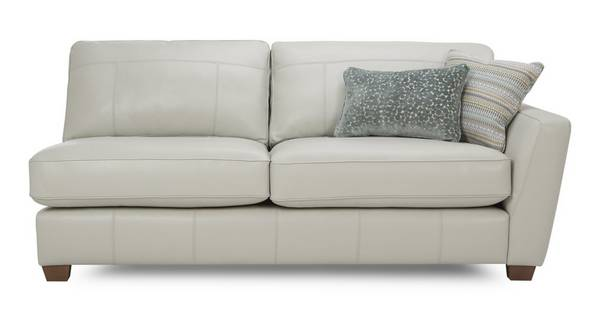 Sophia Leather Right Arm Facing 3 Seater Unit