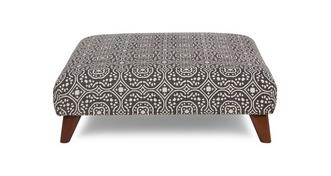 Spencer Patterned Footstool