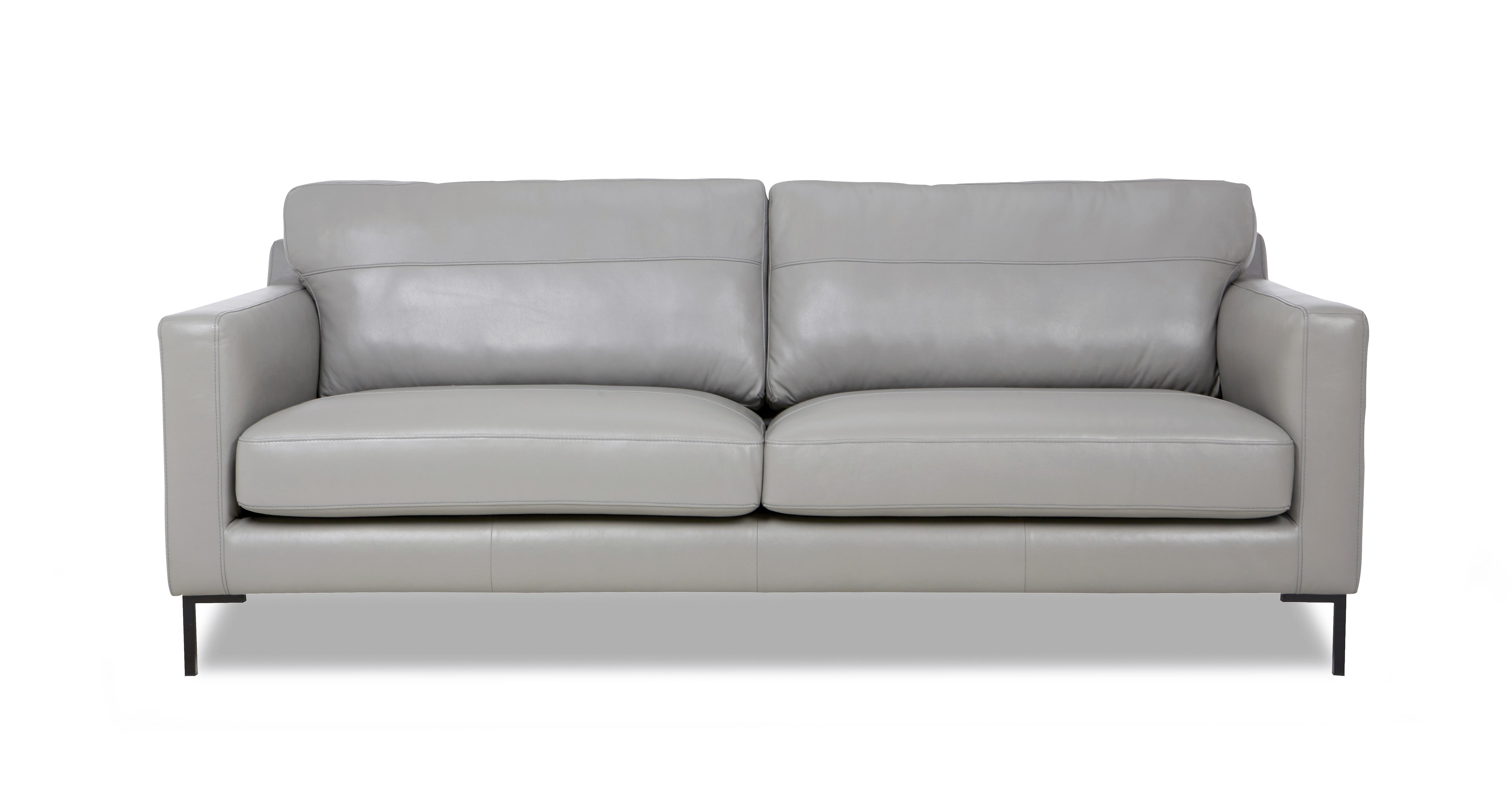 Dfs gray sofa Dfs 4 seater leather sofa
