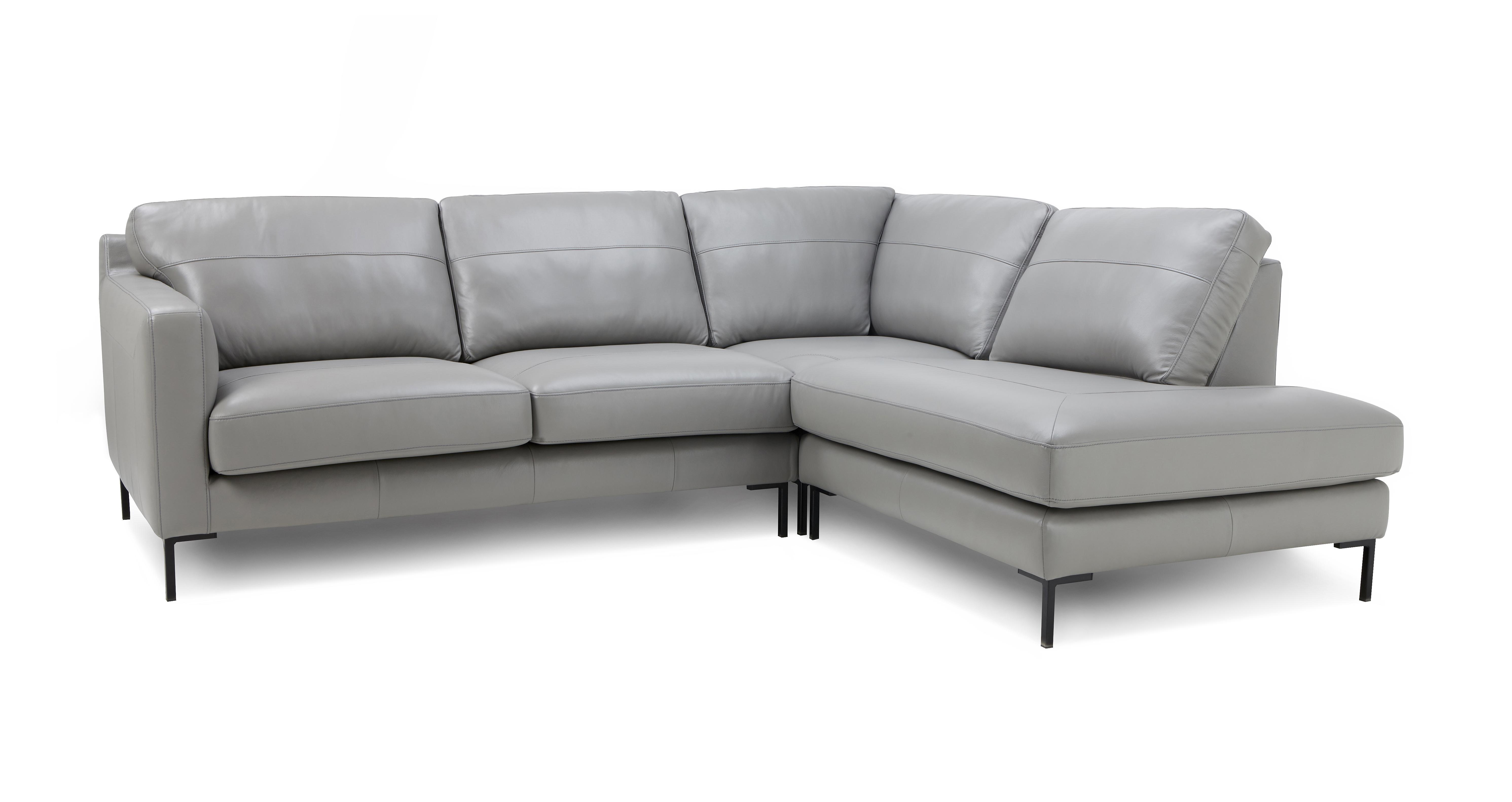 Dove gray leather sofa ezhanduicom for Dove grey sectional sofa